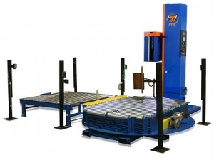 Stretch Wrapping - Conveyorized Pallet Wrapper