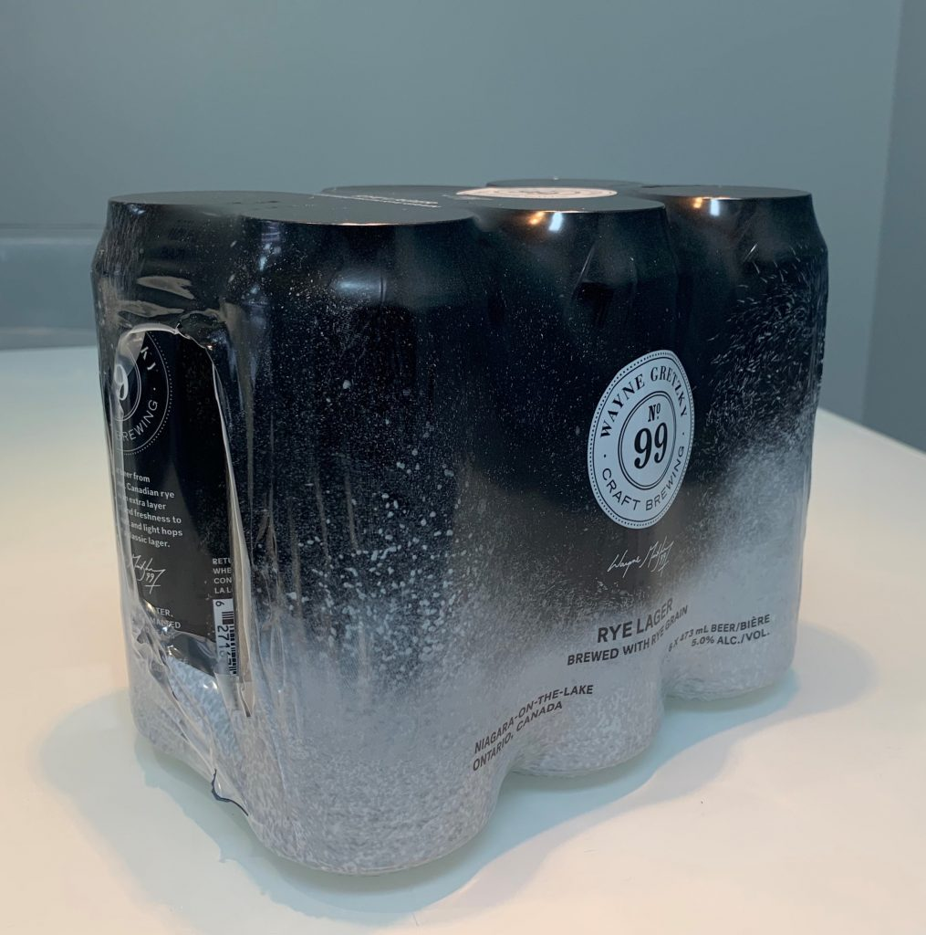 6 pack cans in printed poly