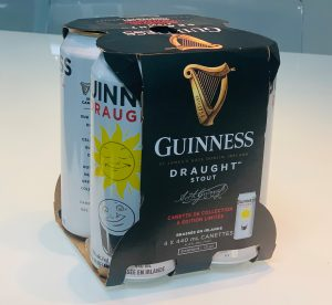 guinness 4 cans in corrugated sleeve